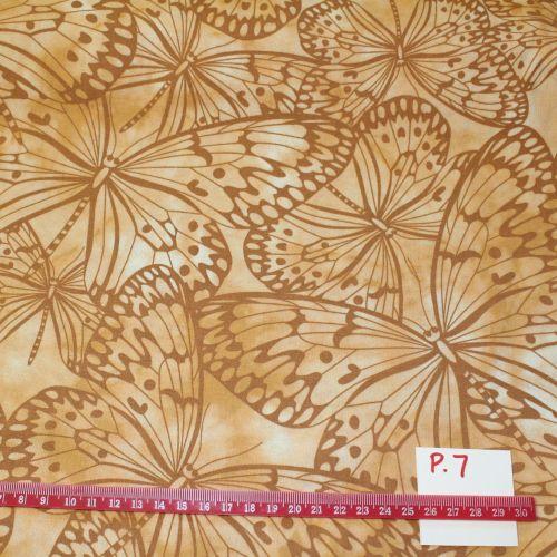 Fabric Freedom Watercolour butterflies - Sand