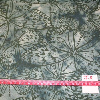 Fabric Freedom Watercolour butterflies - Grey