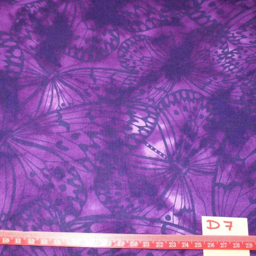 Fabric Freedom Watercolour butterflies - Purple