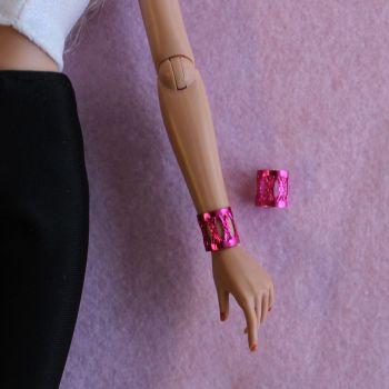 Jem Doll Bracelet Cuff - Pink