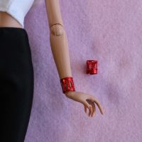 Jem Doll Bracelet Cuff - Red