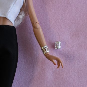 Jem Doll Bracelet Cuff - Silver