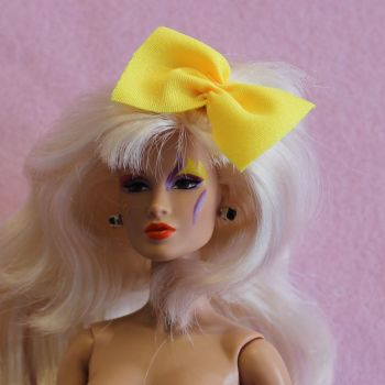 Jem Doll Hair Bow on Clip - Yellow