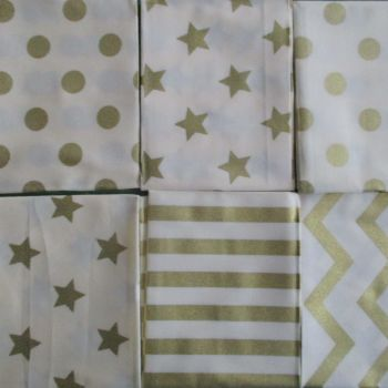 Fat Quarter Bundle - Metallic Print Design