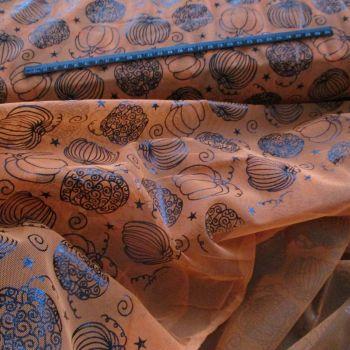 Soft Drape Net Halloween Pumpkins