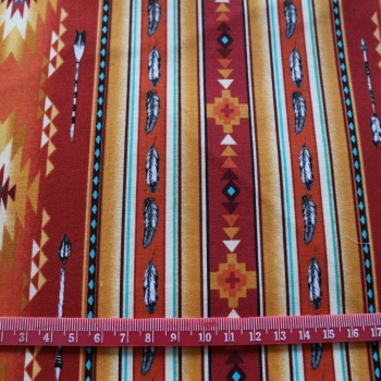 Aztec feathers 100% Cotton patchwork  Fabric