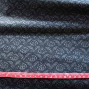Grey leaves 100% Cotton patchwork  Fabric