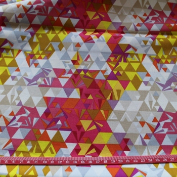 Coloured Triangles 100% Cotton patchwork  Fabric