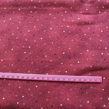 Red / wine / Stars 100% Cotton patchwork  Fabric
