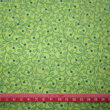 Green leaf Blue dot 100% Cotton patchwork Fabric