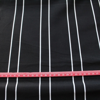 Black & White Stripe 100% Cotton patchwork Fabric