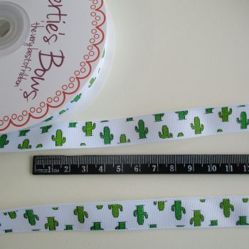 Bertie's Bows 16mm Wide Grosgrain Ribbon - Cactus