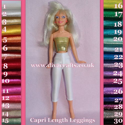 Jem Hasbro Size Capri Length Leggings - Sparkle (Colour Choice)