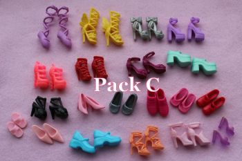 Mixed Pack of Fashion Doll Shoes fits Barbie & Similar Size Dolls - Pack C
