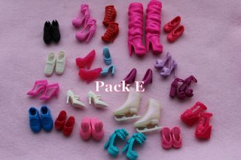 Mixed Pack of Fashion Doll Shoes fits Barbie & Similar Size Dolls - Pack E
