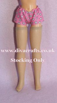 Handmade by Cazjar Pedigree Sindy Fashion -  VINTAGE Size Stockings - Nude