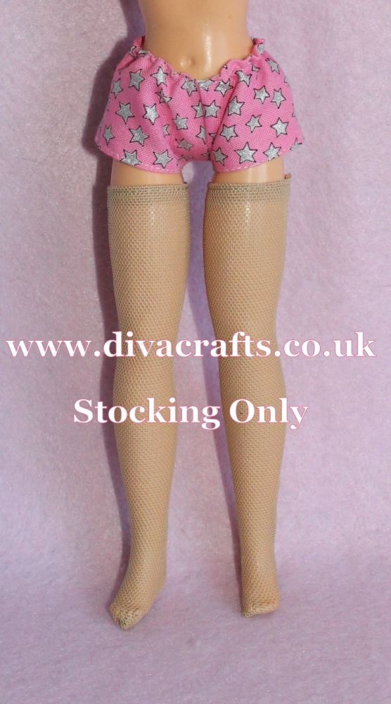 Handmade by Cazjar Pedigree Sindy Fashion -  VINTAGE Size Stockings - Nude