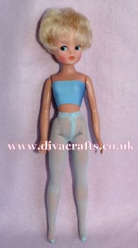 Handmade by Cazjar Pedigree Sindy Fashion -  Net Tights - Pale Blue