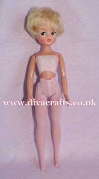 Handmade by Cazjar Pedigree Sindy Fashion -  Net Tights - Pale Pink