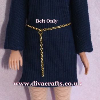 Handmade by Cazjar Pedigree Sindy Fashion -  Metal Chain Belt