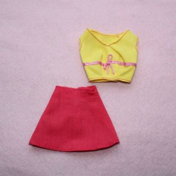 Unknown Brand Yellow Top and Skirt