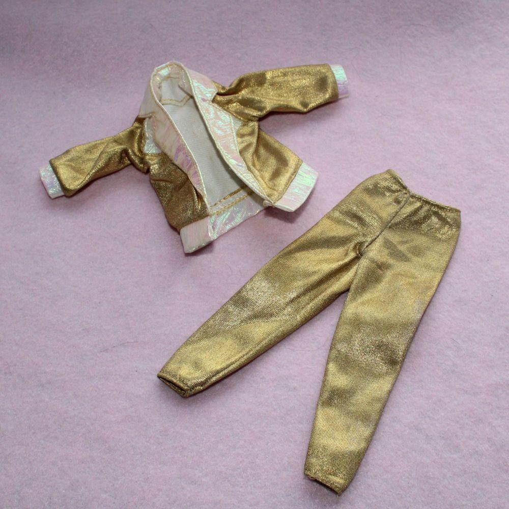 Authentic Hasbro Sindy Gold Suit