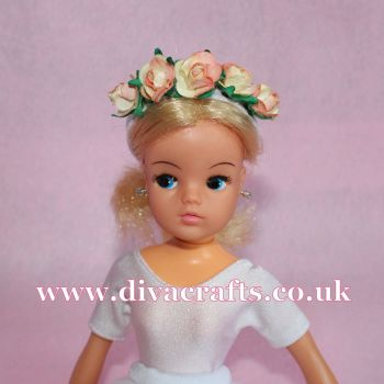 Handmade by Cazjar Pedigree Sindy Fashion -  Floral Headband Peach