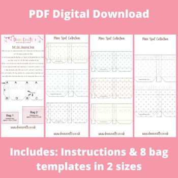 PDF Digital Download Printable Mini Doll Size Shopping Bags - Mini Spot Collection