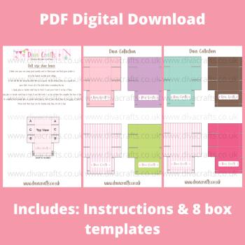 PDF Digital Download Printable Mini Doll Size Shoe Boxes - Diva Collection