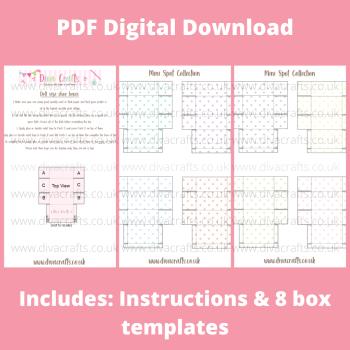 PDF Digital Download Printable Mini Doll Size Shoe Boxes - Mini Spot Collection