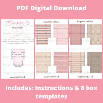 PDF Digital Download Printable Mini Doll Size Shoe Boxes - Neapolitan Collection