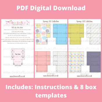 PDF Digital Download Printable Mini Doll Size Shoe Boxes - Spring 2021 Collection