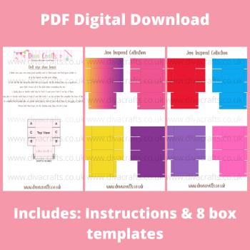 PDF Digital Download Printable Mini Doll Size Shoe Boxes - Jem Collection