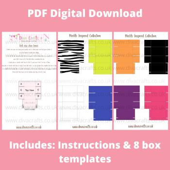 PDF Digital Download Printable Mini Doll Size Shoe Boxes - Misfits Collection
