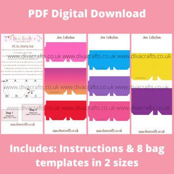 PDF Digital Download Printable Mini Doll Size Shopping Bags - Jem Collection