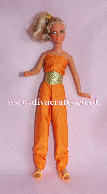 Handmade by Cazjar Kenner Darci Doll Fashion - Copper Coveralls Reproductio