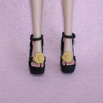Star Doll Shoes fits Integrity Jem - Black