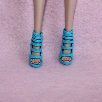 Star Doll Shoes fits Integrity Jem - Blue