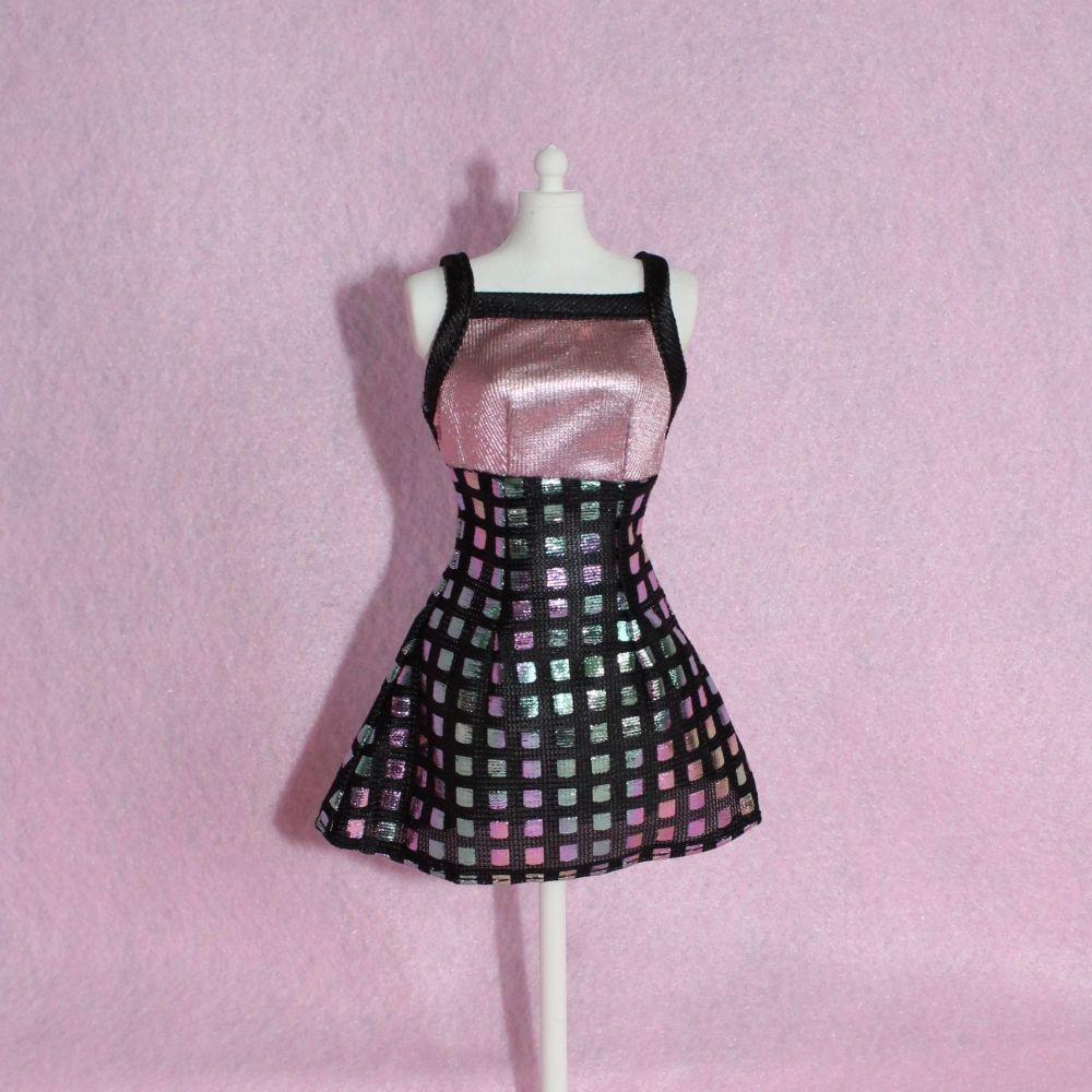 Mattel Barbie Pink Label - Foiled Patterend Dress