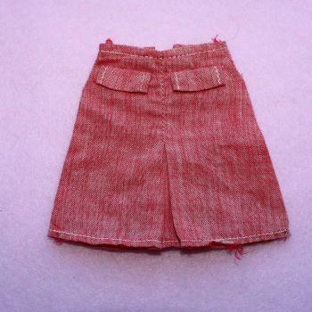 Authentic Pedigree Sindy Red Denim Look Skirt