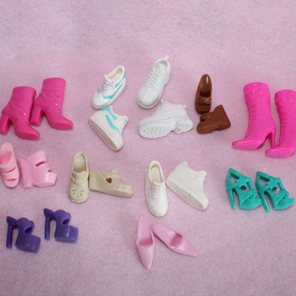 Barbie & Barbie sized Shoes 11 Pairs