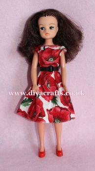 Handmade by Cazjar Pedigree Sindy Fashion - J5 Dress & Belt