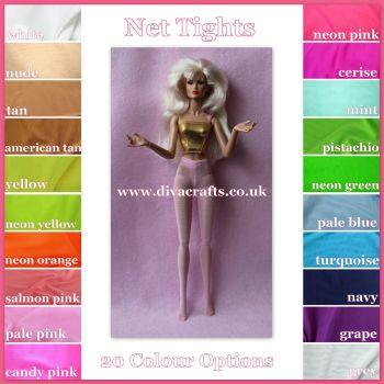 Made by Cazjar for Integrity JEM / Color Infusion Doll - Tights Net Colour Choice