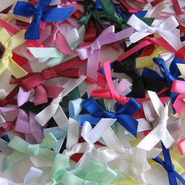 50 Small Satin Ribbon Bows