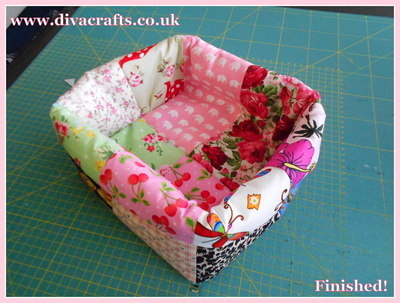 diva crafts free project fabric box (11)