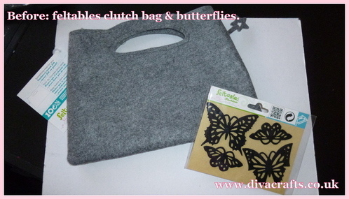 feltables clutch bag diva crafts