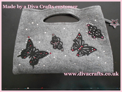 feltables clutch bag diva crafts 1