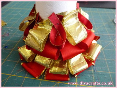 diva crafts christmas ribbon tree free project (1)