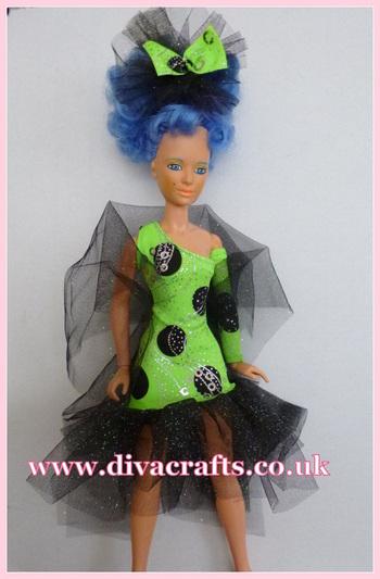 Jem custom doll fashions by Cazjar at Diva Crafts