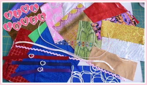 harumika fabric sparkle pack diva loves week 2